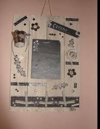 memo ardoise cuisine tableau mémo de cuisine en matériaux recyclés bois et ardoise