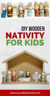 how to make a wooden peg doll nativity set diy christmas decor