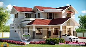 house with outside staircase kerala home design and floor plans