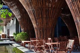 bamboo modern indochine cafe by vo trong nghia in vietnam