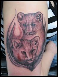 lion baby cubs tattoo picture