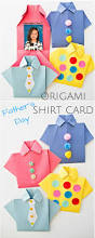easy origami father u0027s day shirt card kids can decorate this cute