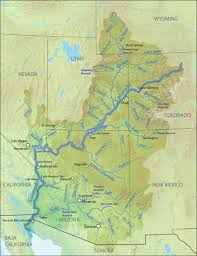 Great Basin Usa Map by Colorado River American Rivers