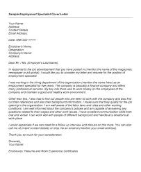 employment cover letter sle cover letter for employment resume badak