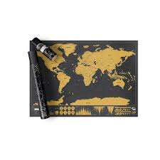 Personalised World Map Pinboard by Scratch Map Deluxe Edition Personalised World Map By Luckies