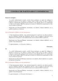 simply market siege social modèle de contrat de partenariat commercial by netpme via slideshare