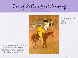 one of pablo s first drawing le picador by pablo picasso 1890 at the tender