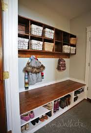 Entryway Bench And Storage Shelf With Hooks 329 Best Entry Way Tutorials Images On Pinterest Wood Projects