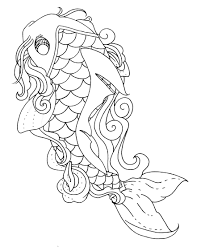 koi fish coloring pages to print free coloring pages for kids