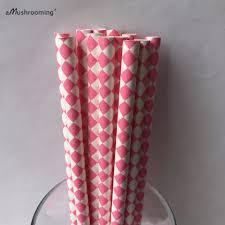 diamond party supplies aliexpress com buy 25 pink diamond paper straws pink diamond