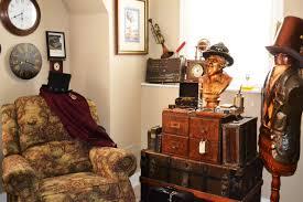 living room steampunk interior design industrial interior design