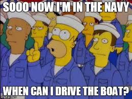 Meme Generator Homer Simpson - homer simpson us navy sailor question captain ship boat imgflip