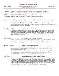 Best Resume Summary Statement by Resume Qualifications Example Berathen Com