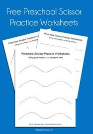 winter themed scissor cutting practice sheets www