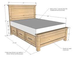 Platform Bed Frame Plans by Best 25 Bed Frame Diy Storage Ideas On Pinterest Full Size
