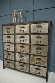 Drawer Storage Units Vincent U0026 Barn Iron Unit Industrial Drawers Storage