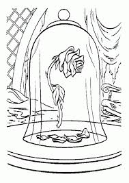 beauty beast rose coloring pages free coloring pages download