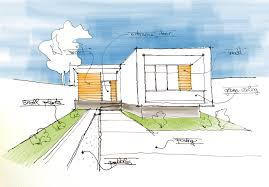 minimalistic house sketch drawing architecture diagrams arch