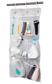 Over The Door Bathroom Organizer Amazon Com Misslo Hanging Mesh Pockets Hold 340oz 1000ml Shampoo