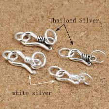 necklace clasps vintage images 10pcs lot 925 thai sterling silver s hook clasps necklace ends jpg