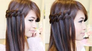 hair braiding styles step by step knotted loop waterfall braid hairstyle hair tutorial youtube