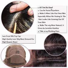 how to make baby hair free parting 4x4 silk top glueless lace wigs wave