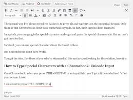 Unicode Character Table Type Special Characters With A Chromebook Accents Symbols Em