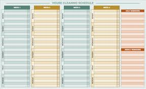 cleaning report template free daily schedule templates for excel smartsheet