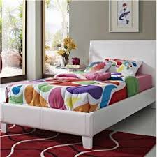 Platform Bed White Fantasia Platform Bed All American Furniture Buy 4 Less Open