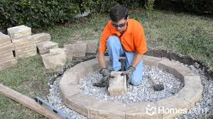 Backyard Fire Pits by Simple Diy Stone Outdoor Fire Pit