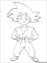 son goku dragon ball coloring coloring pages