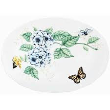 butterfly serving platter lenox butterfly meadow large oval platter free shipping today