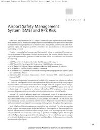 Chapter 8 Airport Safety Management System Sms And Rpz Risk