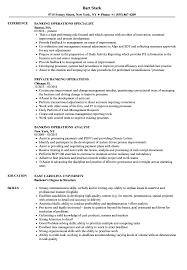 banking operations resume samples velvet jobs