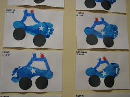 police car made from your child u0027s prints by myforeverprints גואש