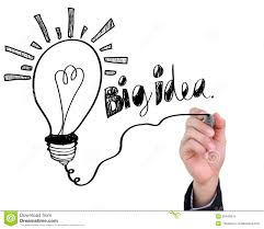 businessman drawing light bulb with big idea royalty free stock