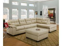 Upholstery Sectional Sofa Simmons Upholstery 9568 Casual Sectional Sofa With Tufted Seat