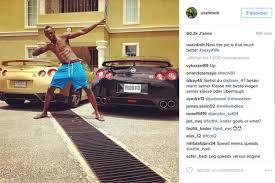 nissan gtr usain bolt jeux olympique de rio 2016 decouvrez le garage dusain bolt