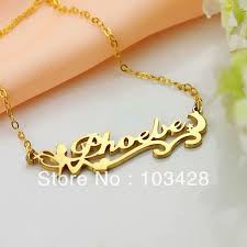 Custom Gold Name Necklace Custom Made Name Necklace Personalizedperfectly