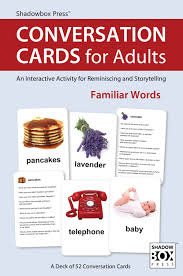 conversation cards for adults familiar words reminiscence