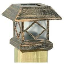 solar powered deck post lights solar post cap light what a neat idea and only 5 95 each