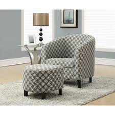 Ottoman Armchair Chairs Chairs Yellow Patterned Armchair Accent Chair And Ottoman