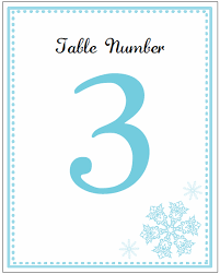 free table number templates printable snowflake wedding invitation kits
