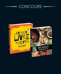 ricardo cuisine concours gagnez un duo de livres ricardo véronique cloutier