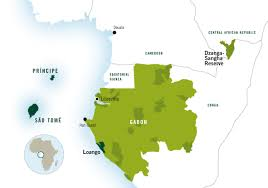 Gabon Africa Map by Africas Eden Home