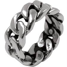 rings silver bands images Chain link sterling silver ring jewelry jpg