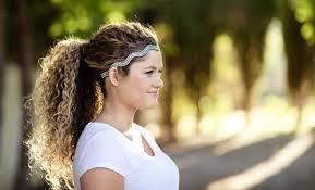 headband ponytail 11 easy headband hairstyles for naturally curly hair