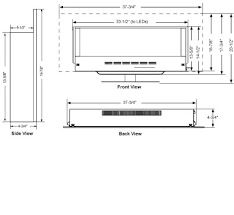Standard Fireplace Dimensions by Simplifire Wall Mount Fireplace Products Majestic Products