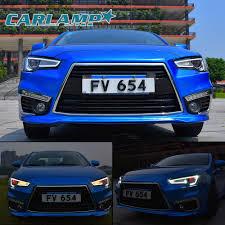 mitsubishi lancer 2017 blue led audi look headlights u0026 tail lights for mitsubishi lancer evo