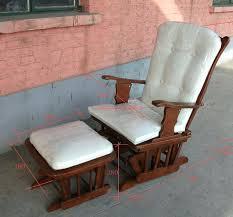 Glider Chair With Ottoman Wooden Glider Chair Cushions Wood Glider Rocker With Ottoman Wood